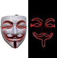 AOLVO - Máscara de Halloween, con LED DJ; máscara de esparcimiento ...