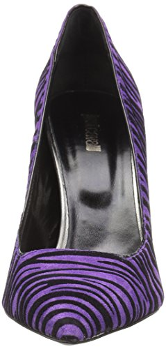 High Dress Zebra Flocked Cavalli Women's Just Purple Pump tAwIXt