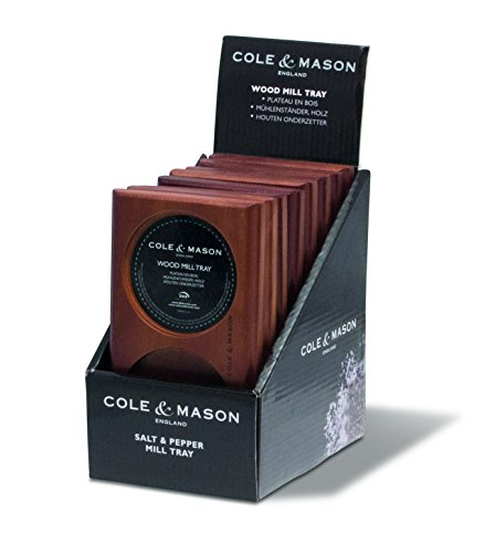 - Cole & Mason Salt & Pepper Mill Tray, Brown Wood