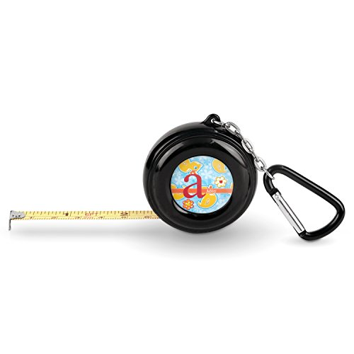 Rubber Duckies Measure - Rubber Duckies & Flowers Pocket Tape Measure - 6 Ft w/Carabiner Clip (Personalized)