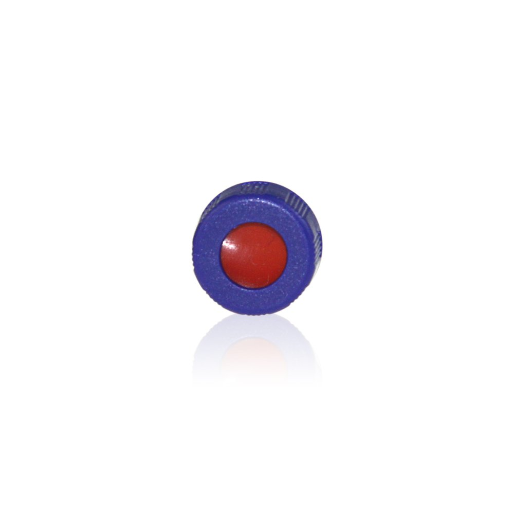 ALWSCI 9-425 Screw Thread Caps with Septa, White PTFE/Red Silicone Septa, 100 pcs/pk