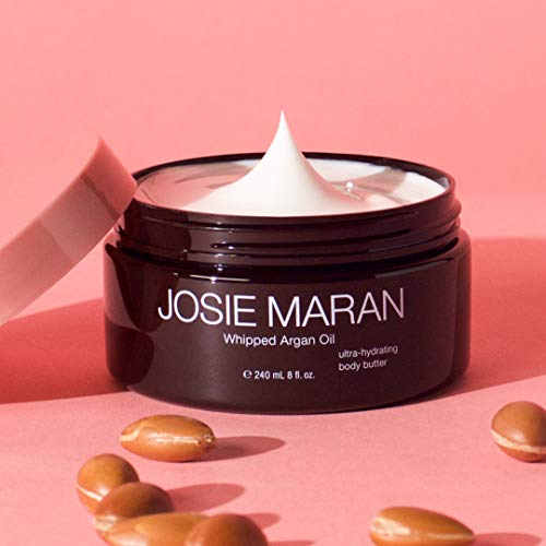 Josie Maran Whipped Argan Oil Body Butter - Immediate, Lightweight, and Long-Lasting Nourishment to Soften and Hydrate Skin (240ml/8.0oz, Vanilla Bean) by Josie Maran (Image #1)
