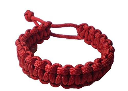 Mad Max Adjustable Paracord Survival Bracelet Tom Hardy Fury Road RED Friday Version (8 - 8 1/2 (Mad Max Costumes For Sale)