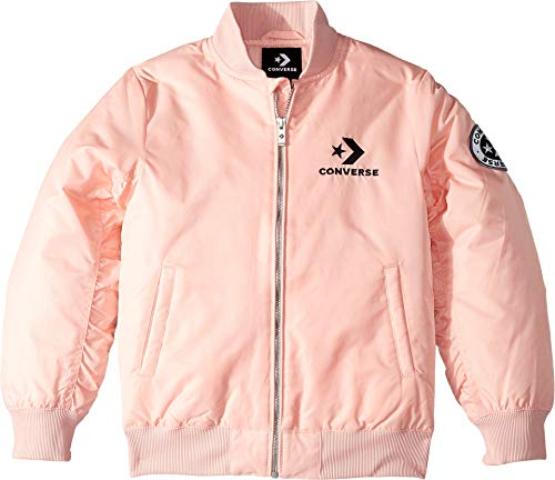 Converse Kids Girl's Polyfill Varsity Bomber (Big Kids) Converse Storm Pink Small