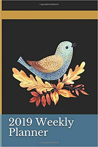 amazon com 2019 weekly planner blue jay and maple leaf 2 week