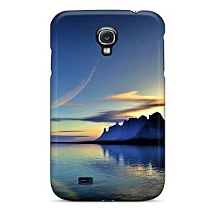 Defender For Case Samsung Galaxy S4 I9500 Cover , Spatial Sea Sunrise Pattern