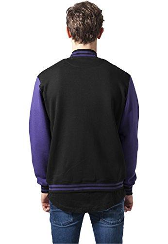 purple Blouson Urban Sweatjacket 2 tone Classics College Homme Black 76gybf