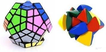 Mayatras Combo of Shengshou Master Pyramorphix & Megaminx Black Speed Cube