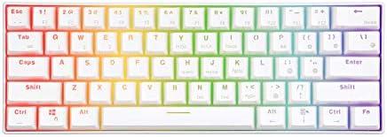 RK Royal Kludge RK61 RGB Mechanische Gaming Toetsenbord Bluetooth 30 MultiDevice gaming toetsenbord US layout geschikt voor iOS Android Windows en Mac Blauwe Schakelaar Wit