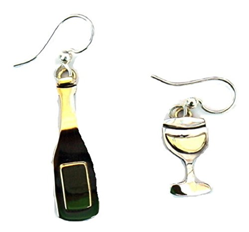 Wine Bottle and Glass Earrings Mima & Oly By Far Fetched Wine Lovers