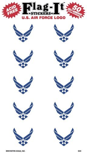 Air Force Logo flag stickers for home or school ()