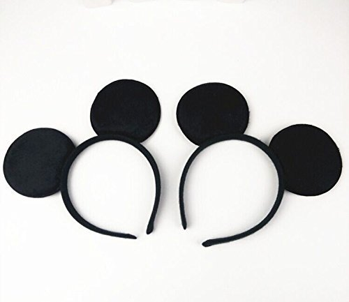Mouse Ears Headband Children Birthday Party Supplies Boys Mom Baby Hair Accessories Party Decoration Baby Shower Valentine's Day Halloween Christmas Set of 2 -
