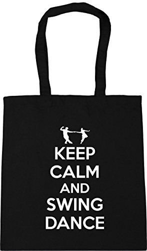 calm 42cm HippoWarehouse Bag Shopping Beach dance 10 Keep and Tote Black litres x38cm Gym swing 5rvwrFp