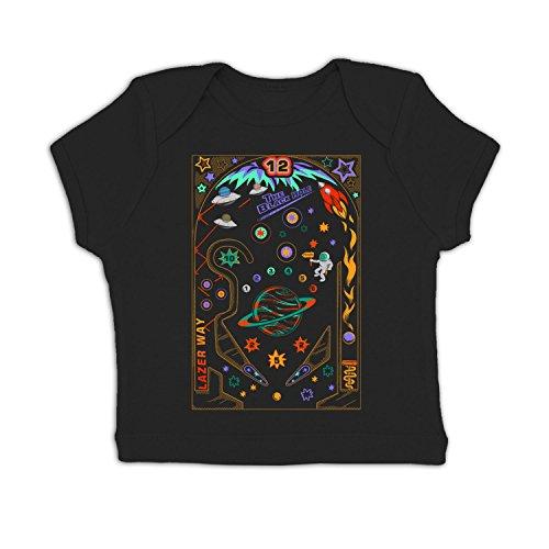 Space Pinball Baby T-shirt - Black 18-24 Months