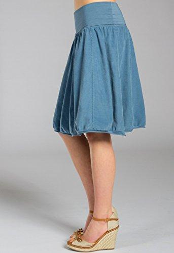 Donna Coste RO004 CASPAR Blu Gonna Jeans di Velluto a US75pwqS