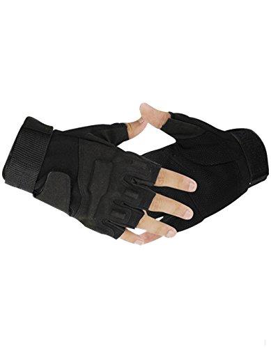 みがきますりこっそりWalant 手袋 メンズ 指切り スマホ対応 スマートフォン対応 グローブ バッチリ 滑り止め付き スポーツ用 防寒手袋 運転運動にも (XL, Black)