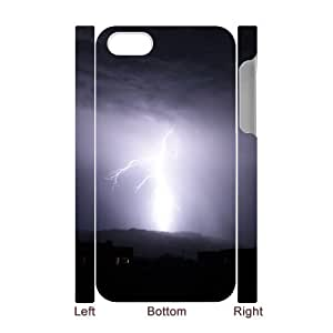 3D Dustin Lightning IPhone 4/4s Cases Arizona Lightning, Lightning [White]