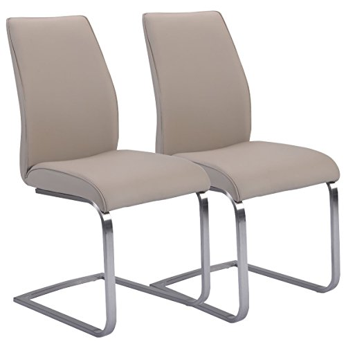Giantex Dining Chairs Leather Furniture