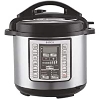 Elica Electric Pressure Cooker with 7 in 1 Multi Functional Programmable Rice Cooker, Steamer, Yogurt Maker, Saute, Warmer and Slow Cooker - 6 Liter
