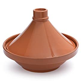 """Sur La Table Glazed Terra Cotta Tagine 2025, 12.5"""" 2 Our handsome terra cotta tagine makes it easy to prepare a variety of tantalizing Moroccan meals Traditionally used by nomads as portable ovens for making stews over charcoal fires, the tagine is ideal for both cooking and serving Safe for stovetop (when used with a diffuser) or oven up to 390°F, this ceramic cookware doubles as a beautiful serving dish-care should be taken to protect your table as the base will be very hot"""