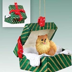 Amazoncom Pomeranian Christmas Ornament Hanging Gift Box Home