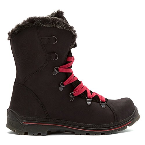Santana Canada Womens Short Boot Black Crazyhorse Leather JStE8ska27