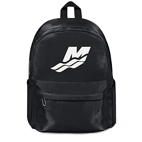 (Casual Nylon Backpack for Mens/Womens Mercury-Marine-water-logo-white-black Durable School Bag)