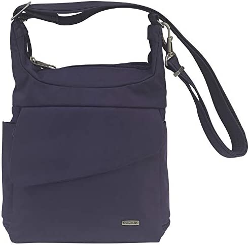 Travelon Anti-Theft Messenger Bag (Purple/Grey Lining)