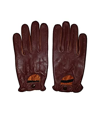 Soft Leather Men's Driving stylish Fashion Gloves