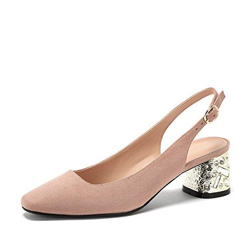 a65389c25 Zapatos de mujer primavera nueva hebilla de cinturón decoración de diamantes  de imitación boca baja zapatos