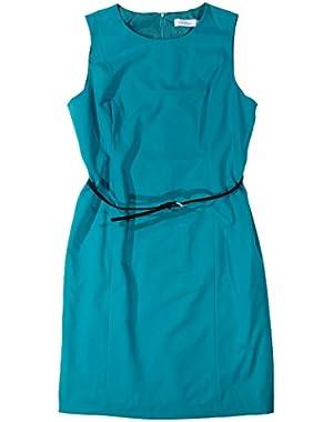 Calvin Klein Sleeveless Lag Lagoon Belted Dress