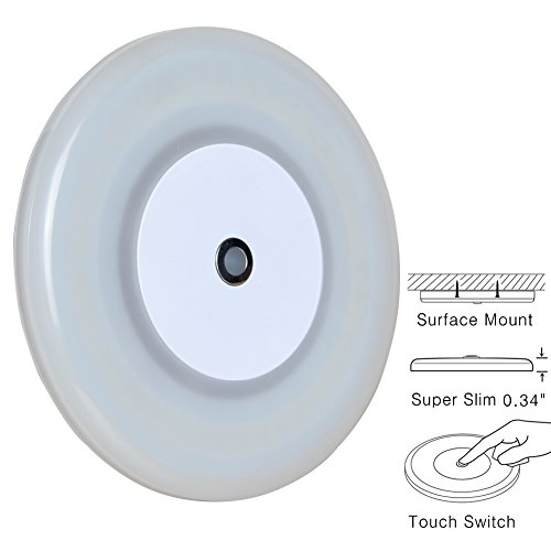 RV Boat Dome Light 12 Volt LED Ceiling Light Inbuilt Touch Dimmer Switch for Camper Trailer Marine Yachts Interior Dimmable Lighting Surface Mount 4.7