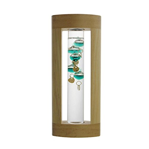 Aolvo Galileo Weather Temperature Thermometer Floating Colored Balls Glass Thermometer with Dock