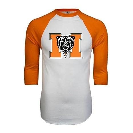 fcd226a5488 Amazon.com : CollegeFanGear Mercer White/Orange Raglan Baseball T ...