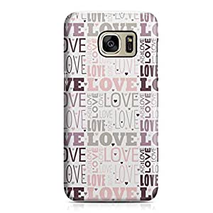 Samsung S7 Case Pretty Heart Love Pattern For Girls Valentine Sleek Low Profile Light Weight Clear Samsung S7 Cover Wrap Around 160