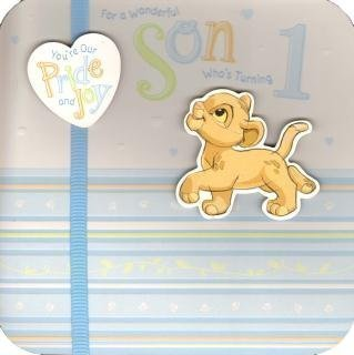 Son 1st Birthday Simba Disney Card Amazoncouk