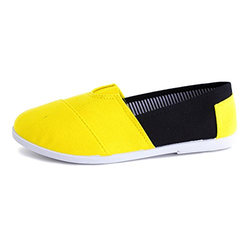 Scarpe Da Calzatura Da Donna Di Kali Slip On Double Tone Shoes (adults) Yellow