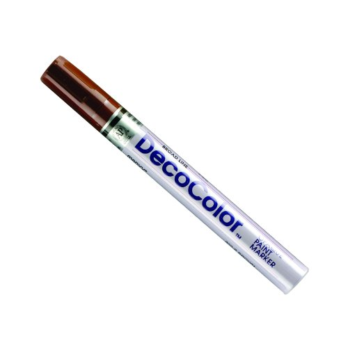 Uchida 300-C-6 Marvy Deco Color Broad Point Paint Marker, Brown -