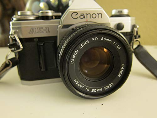 - Canon AE-1 35mm Film Camera w/ 50mm 1:1.8 Lens