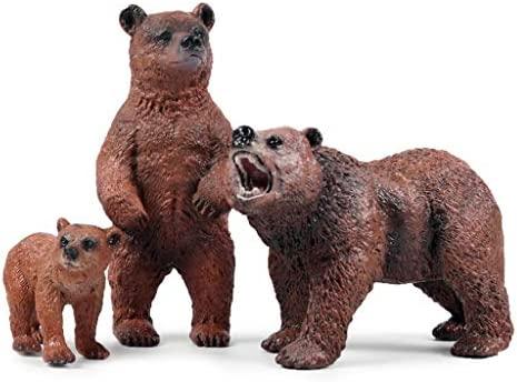 Xiuinserty - Figuras de animales del bosque, oso falso ...
