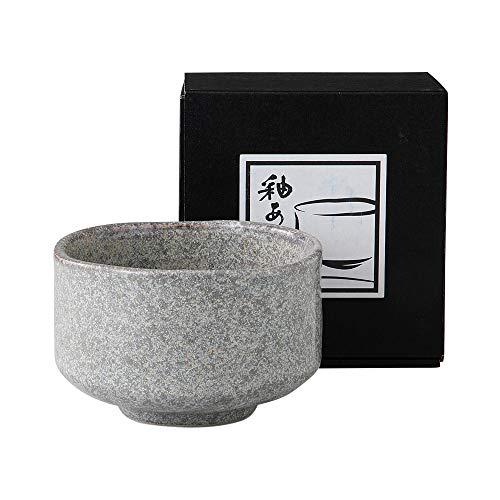 Minoyaki Oburo Grey Matcha Bowl