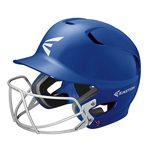 (EASTON Z5 Junior Batting Helmet with Baseball Softball Mask | 2019 | Royal | Unisex | Dual Density Shock Absorption Foam | High Impact Resistant ABS Shell | Moisture Wicking BioDRI liner)