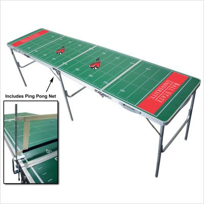 Ball State Cardinals 2x8 Tailgate Table by Wild Sports by Wild Sports
