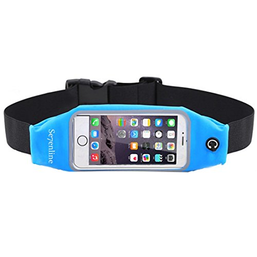 Se7enline Fanny Pack Running Belt Workout Belt for Fitness Hiking Exercise Cycling Traveling Dog Walking Sports outdoors Hidden Waist Pack for 5.5 inch iPhone 6/6S Plus, 5.7¡¯¡¯ Samsung Galaxy S7 Blue