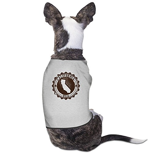 usa-california-gray-pet-dog-tees