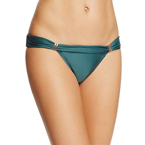 ViX Women's Solid Bia Tube Full Bikini Bottom, Green, XS