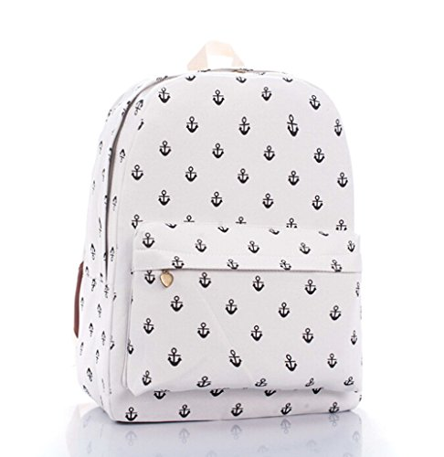 KISS GOLD(TM) Cute Cartoon Pattern Canvas Laptop Backpacks Knapsack(Small (Golden Kiss)