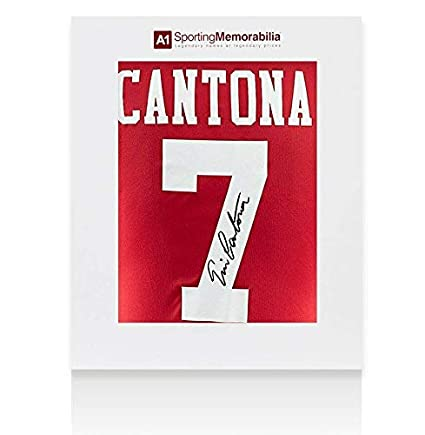 f0bc32eac71 Eric Cantona Signed Manchester United Shirt