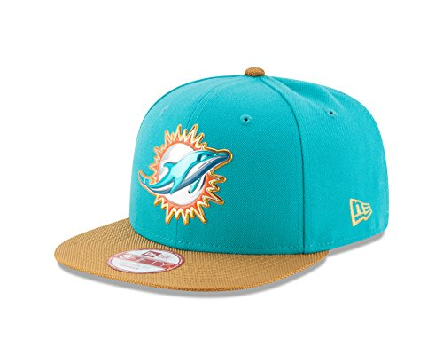 - NFL Miami Dolphins Gold Collection Gold Visor 9FIFTY Original Fit Snapback, One Size fits All, Teal/Gold
