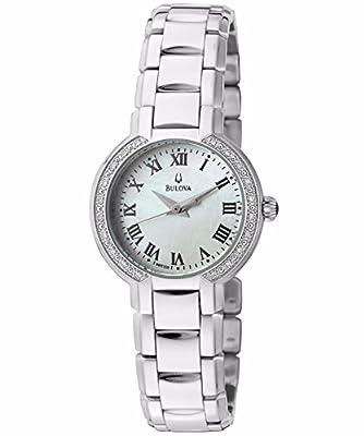 Bulova Women's 96R159XG Diamond Dial Quartz Watch (Certified Refurbished) by Bulova